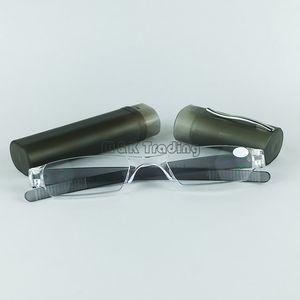 Slim lunettes de lecture en plastique tube de lecture lunettes de soleil lentille de puissance couleurs mélangées livraison gratuite avec 20pcs