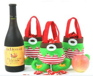 60pcs candy bag christmas Bag for Children christmas Bag for Children Christmas Candy bag Santa pants style Christmas Candy gift bag D394