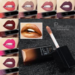 Pudaier New Make-up Wasserdicht Lipgloss Matt Flüssiger Lippenstift Frauen Kosmetik Make-up Nude Purple Black Rose