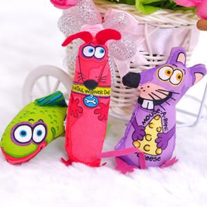 Alta qualidade Gato Gordo lona de Rato, Multicolor Gato Divertido brinquedos de Menta, Pet Brinquedos de Pelúcia Dos Desenhos Animados, Peixe Mouse Estilo Do Cão YC0072