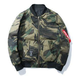 2017 Nuovo Autunno Inverno Camo Bomber Giacca Uomo Capispalla US Army Cappotti Casual Camo Giacche Tattico Uomini Moda Parka Plus Size 3XL