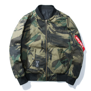 2017 neue Winter Herbst Camo Bomberjacke Männer Oberbekleidung US Army Mäntel Casual Camo Jacken Taktische Männer Mode Parka Plus Größe 3XL
