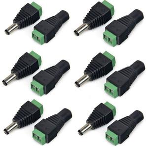 BNC 2.1 x 5.5mm DC femelle et fiche mâle Jack adaptateur connecteur Prise pour la livraison express gratuite CCTV