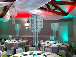 последний уникальный современный высокий акриловый Кристалл висит центральным для украшения свадебного стола
