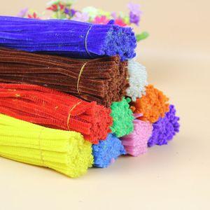 """FUZZY PIPE CLEANER STEMS- الشنيل الحرفية ينبع الفنون الإبداعية الشنيل منظفات الأنابيب الجذعية 12 """"30 سنتيمتر لون عشوائي"""