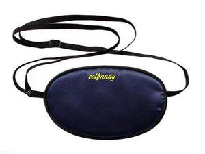 100pcs / lot adulte enfant célibataire haut de gamme soie masque oculaire sommeil One-eyed Amblyopia formateur eyeshade eye patch