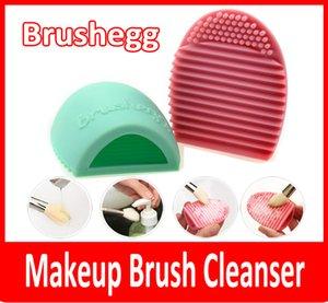 New Egg Reinigungshandschuh Make-up Waschbürste Scrubber Board Kosmetik Brushegg Kosmetik Pinsel Ei Rosa Lila Mint Green