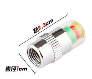 Alerta de aire válvula del neumático del coche del casquillo de presión de los neumáticos control de presión de neumáticos de automóviles Cap 2.4BAR herramienta TPMS 36PSI 3 colores Alerta 1set = 4pcs el ccsme