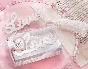 LOVE Bookmark for Books Metal Bookmarks with Tassels Wedding Souvenirs Book Marker