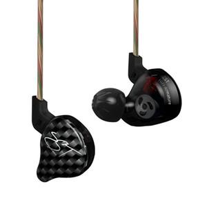Écouteurs intra-auriculaires OKCSC KZ ZST Écouteurs HiFi sport à annulation de bruit avec micro et câble détachable