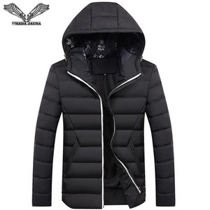 Atacado-VISADA JAUNA homens casaco de inverno 2017 homens da moda jaqueta de algodão casaco casual para homem cor sólida Slim Fit 4XL casaco de inverno homens N6670