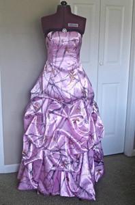 Мода Розовый Камуфляж Свадебные Платья С Подобрать Юбку Realtree Camoflage Свадебные Платья Длина Пола Свадебные Платья 2016 Vestidos Де Новия