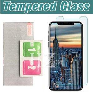 Pellicola proteggi schermo in vetro temperato 2.5D 9H per iphone XR XS MAX X 8 7 plus 6s Samsung A6 A8 A9 J4 J6 J8 2018 Huawei P20 pro