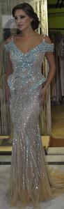 Maßgeschneiderte Crystal Prom Dress 2016 bodenlangen und Crystal Party Dress formelle Kleidung Hochzeit Party Kleider