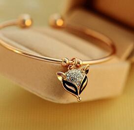 Avrupa retro narin gül altın bilezik Kore sevimli flaş tilki elmas bilezik