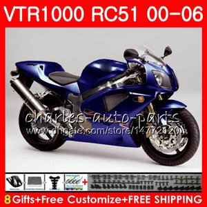 Corpo Para HONDA RTV1000 VTR azul preto 1000 00 01 02 03 04 05 06 92NO49 VTR1000 RC51 SP1 SP2 00 2000 2001 2002 2003 2004 2005 2006 Carenagem