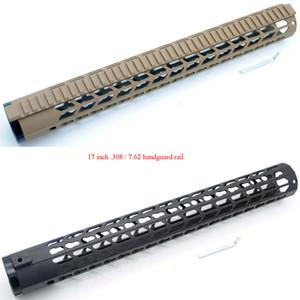 "17"" inch Extra Long LR-308 Ultralight Black Tan Keymod Free Float Handguard Rail Picatinny Mount System"