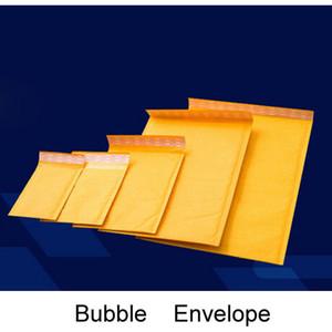 Sarı Kabarcık Zarf Wrap Çanta Torbalar Ambalaj PE Kabarcık Çantalar dış boyutu 110 * 130mm, 150 * 200mm, 200 * 250mm, 230 * 280mm Kraft Kabarcık Postaları Pad
