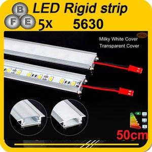 Wholesale-5pcs 50CM DC 12V 36 SMD 5630 LED rígido rígido LED Strip Bar Light con carcasa de aluminio U + cubierta de pc