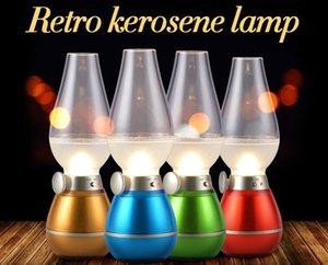 2015 новый светодиодов дует контрольная лампа ретро керосиновая Ямп USB перезаряжаемые светильник дуновения Сид включеный-выключеный ночник новинка ретро керосиновая
