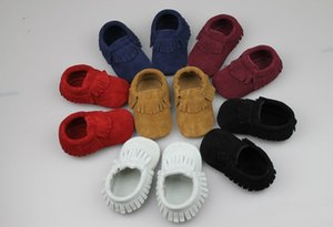 Baby Leather Kids Moccs Baby Shoes Fringe Sólido First Walking New Diseñado Shoe Shoe D6193