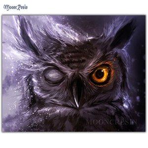 MOONCRESIN Diy Diamante pintura da fantasia de Natal Cross Stitch Mysterious Owl bordado Natal do diamante Mosaic Decoração Kit