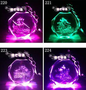 Новый LoL Key Ring League of Legends All-Star Crystal Flash LED Light Keychain индивидуальные мультфильм Кристалл кулон лучшие подарки бесплатная доставка