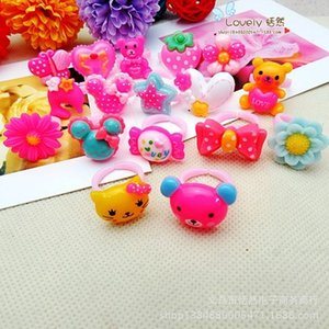 Children's ring finger toys, candy, candy, real color, mixed batch of plastic ring FS00143
