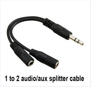 hot Cabo de Conversão áudio de 3,5 mm macho para a fêmea Headphone Jack Splitter Adaptador de Áudio Cabo Atacado