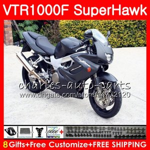Corpo per HONDA VTR1000F Nero opaco SuperHawk 97 98 99 00 01 02 03 04 05 91NO19 VTR 1000F 1997 1998 1999 2000 2002 2003 2004 2005 Carena