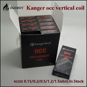 100% Genuine Kanger occ bobine verticali .5 1.2 Bobina per kangertech Subtank ii plus subox topbox mini nano subvod mega ssocc nebox cltank