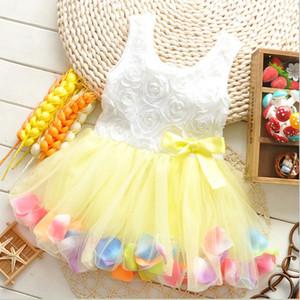 Niños bebé niñas ropa princesa tutu vestido verano niña encaje mariposa vestidos flor chaleco sundress pétalo marzo Promoción D3884