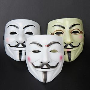 50 шт. / лот 2015 новый прибытие V Маска Вендетта белый желтый маски для мужчин маскарадные маски продажи Хэллоуин маски ПВХ Рождественский подарок