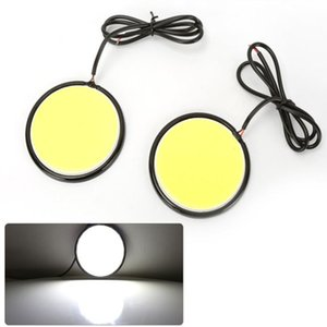 Pour 12 V Universel Voiture Blanc Feux Diurnes Forme Ronde Ange Yeux COB LED Conduite Lampe DRL Tête Lampes Auto Lampe Car Styling