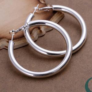 Brand New Sterling Prata Banhado 5mm Soramimi Ring Dfmse149, Mulheres 925 Prata Dangle Brincos Candelabros 10 Pares Muito