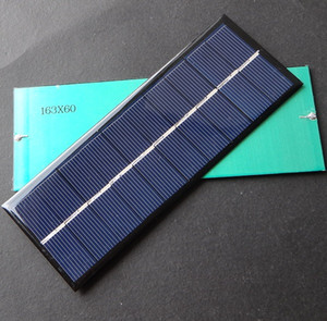 BUHESHUI 1.3W 5V Solar Cell Module Polycrystalline DIY Solar Panel Charger For 3.7V Battery Light Study163*60*3MM 10pcs lot Free Shipping