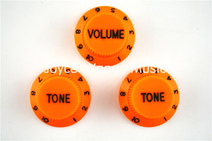 Arancione 1 Volume2 Tone Manopole chitarra elettrica leve di comando per Fender Strat chitarra di stile trasporto di commerci all'ingrosso