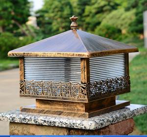 Continental Spalte Scheinwerfer Außenleuchten wasserdicht Rasen Lampe Tür ummauerten Innenhof Blick auf den Garten Villa Post Lichter 30CM * 30CM