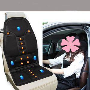 Coprisedili per auto da massaggio e riscaldamento 12V Carrozzina da SUV per SUV Universal Fit Cuscino antiscivolo con motore a 5 motori