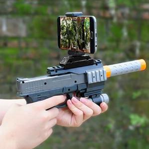 AR-GUN VR Juego de Realidad Aumentada Juegos de Disparo Teléfonos Inteligentes Bluetooth Control Pistola de Juguete Estilo Corto CCA8285 20 unids