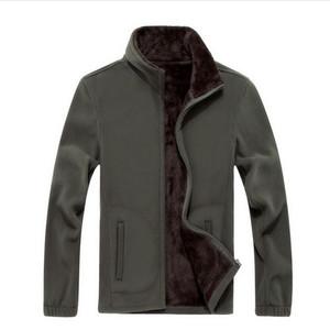 Wholesale- Men's Thick Jackets Softshell Fleece sportswear 6XL 7XL 8XL Woolen Warm Hoodies Casual Thermal Coats Solid Sweatshirts for men