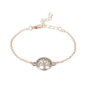 Moda Cadeia de Ligação Árvore da Vida Charm Bracelet para As Mulheres Simples Pulseiras de Árvore de Ouro e Prata Pulseiras Presente Do Partido pulseras