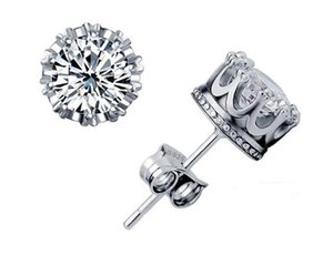 Очаровательная 925 серебряные серьги натуральный Кристалл Оптовая мода небольшой стерлингового серебра ювелирные изделия для женщин Стад бесплатная доставка