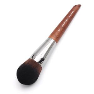 Trucco professionale per artista lungo manico in legno setola ondulata diritta 112 Pennello per fondotinta di precisione medio conico
