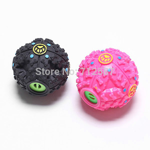 Regalo dolce di trasporto libero Pet Dog Cat Food Squeaky Squeaker Quack Sound Toy Chew Fun Ball