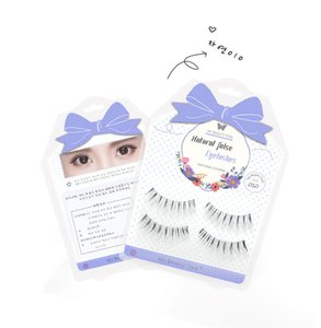 Corea Ciglia finte Strumento di bellezza Super Natural Charm Curl Thick Ciglia Finte Eye Lash Extension Black Terrier Full Strip Lashes # 010