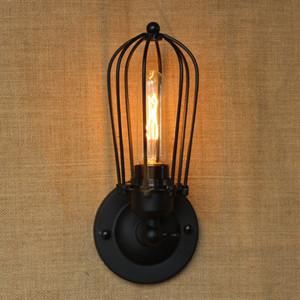 Aplique de pared industrial Lámpara Vintage Loft País Luces antiguas American Classic Sconce para el hogar Iluminación interior Retro