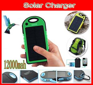 Caricabatterie solare impermeabile 12000mAh antiurto caricatore solare antipolvere batteria 2 Porte Pannello solare Power Bank + Torcia elettrica 12000 mah 2 Porto