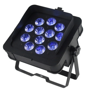 Nuevo MF-P1218 DJ LED Slim Par Lights DJ Iluminación Wash Light con 6en1 RGBWA UV Led Lámpara DMX 6/10 Canales