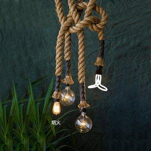 Commercio all'ingrosso- Vitage lampada a sospensione corda Loft lampada industriale Edison stile americano E27 / E14 110 V / 220 V 2.5 M per Loft caffè Bar Ristorante